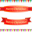 Merry christmas ribbons — Stock Vector