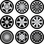 Car wheels — Stock Vector