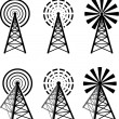 Stock Vector: Radio tower