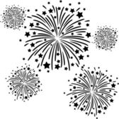 Firework black — Stock Vector