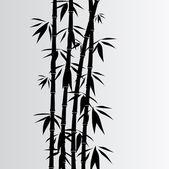 Gray bamboo background — Stock Vector
