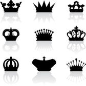 King crown icons — Stock Vector