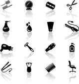 Hair salon icons — Stock Vector