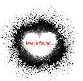 Ink blots heart — Stock Vector