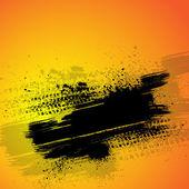 Orange tire track background — Stock Vector