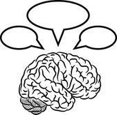 Brain with frames — Stock Vector