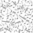 Stock Vector: Seamless music notes background
