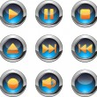 Media player buttons — Stock Vector #31402667