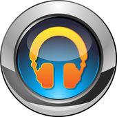 Hörlurar-knappen — Stockvektor