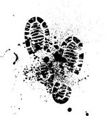 Ayakkabı silhouette arka plan — Stok Vektör