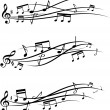 Music notes set — Imagen vectorial