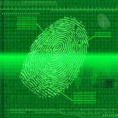Finger print green — Stock Vector