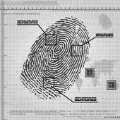 Finger print background — Stock Vector