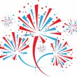 Firework on white — Stock Vector
