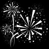 Firework white — Stock Vector