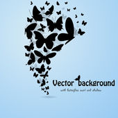 Butterflies background — Stock Vector