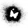 Butterfly silhouette — Stock Vector