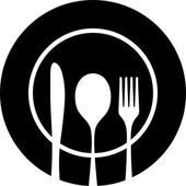 Cutlery black silhouette — Vector de stock