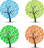 Seasons tree — Stock Vector
