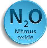 Nitrous oxide — Stock Vector