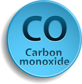 Carbon monoxide — Stock Vector