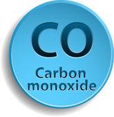 Carbon monoxide — Stock Vector