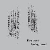 Tire track on gray — Stockvektor