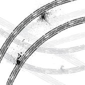 D'encre transferts pneu piste — Vecteur