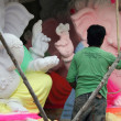 Stock Photo: Making of Ganesh Idol for Ganesh chathurthi