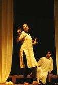 Actors performing The last colour, marathi play ,Save tiger theme. — Stock Photo