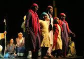 Artists performing Anabhigna Shakuntala,kannada play — Stock Photo