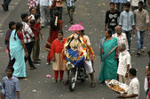 Transporting Ganesha idol for immersion — Stock Photo