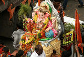 Ganesha idols are being transported for immersion — Stock Photo