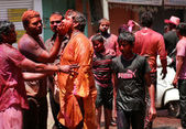 Indian hindus celebrate Holi festval — Stock Photo
