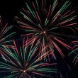 Green and red fireworks - Stockfoto