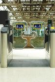 Station gates — Stock Photo