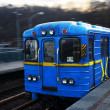 Metro car in Kiev — Stock Photo