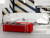 Design av interiör av moderna loft. — Stockfoto