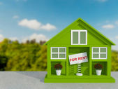 Small green house for rent. — Stock Photo