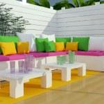 Outdoor patio seating area. — Stock Photo #43955519