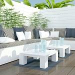 Outdoor patio seating area. — Stock Photo #44087123