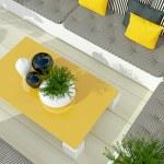 Outdoor patio seating area. — Stock Photo #44087153