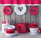 Ceramic kitchen utensils. — Stock Photo