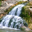 Waterfall on small mountain river — Stock Photo