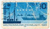 Postafe sello de ddr — Foto de Stock