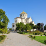 Vladimir Cathedral in Chersonese district of Sevastopol city — Stock Photo #18479463