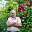 Stock Photo: Old male gardener