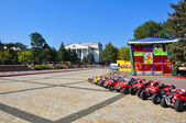 Kerch, Lenin Square and the theatre — Stock Photo