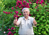 Old male gardener — Stock Photo