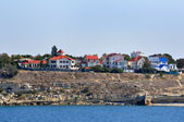 Houses at the sea — Foto Stock